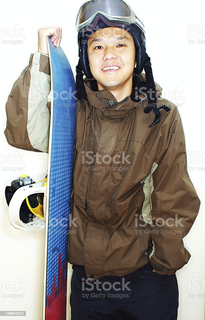snowboarder 2 (high contrast) royalty-free stock photo