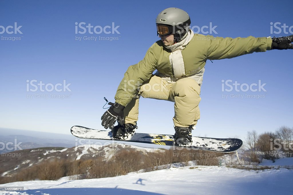 Snowboarder Action zoom royalty-free stock photo