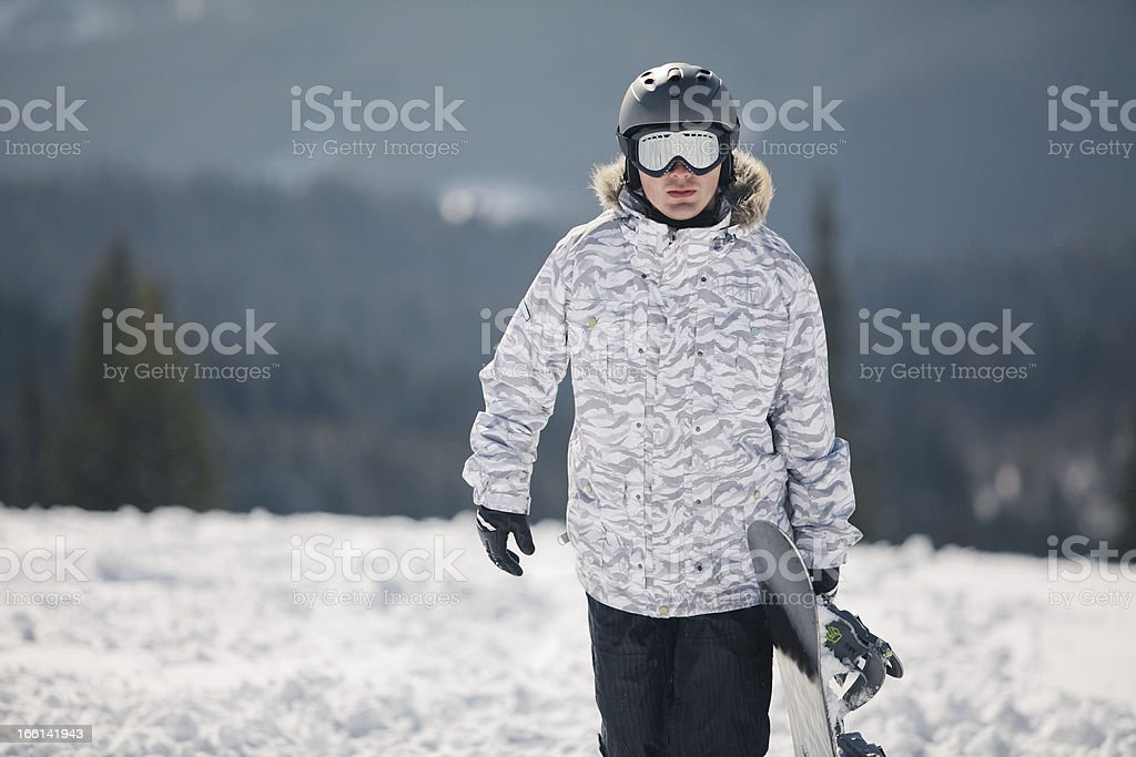 snowboarder against sun and sky royalty-free stock photo