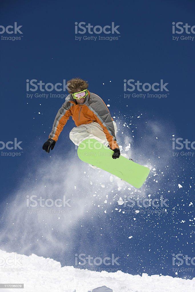 Snowboarder Airborne royalty-free stock photo