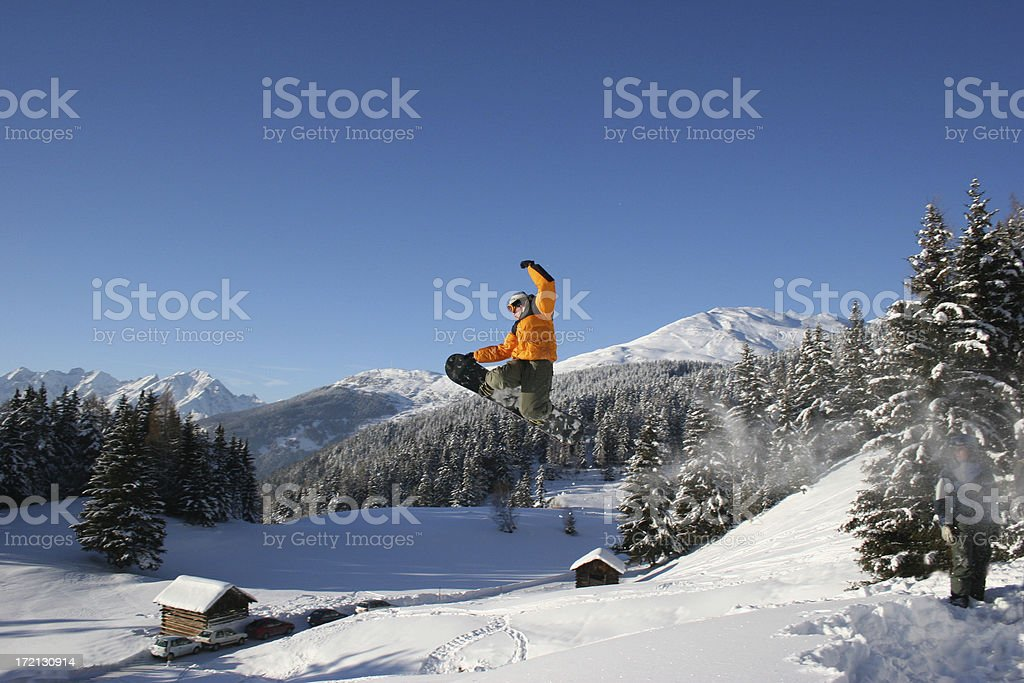 snowboarder backsideair royalty-free stock photo