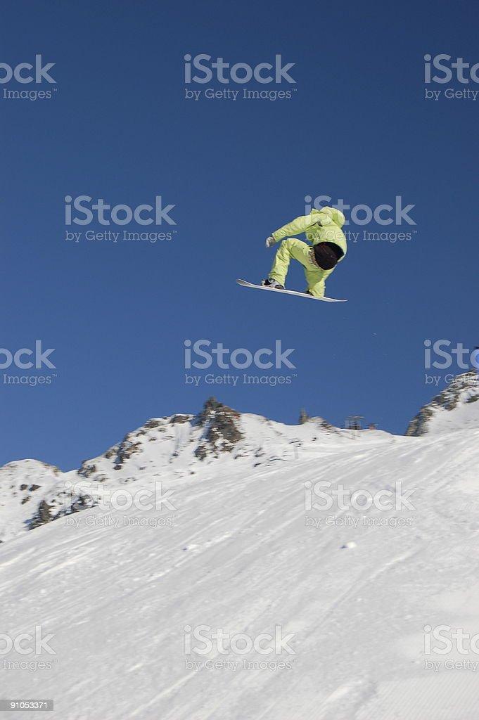 Snowboarder Big Air royalty-free stock photo