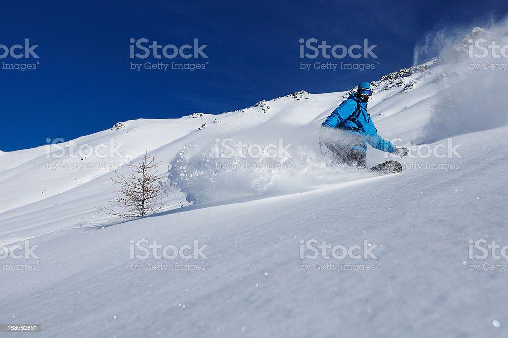 snowboarder freerider royalty-free stock photo