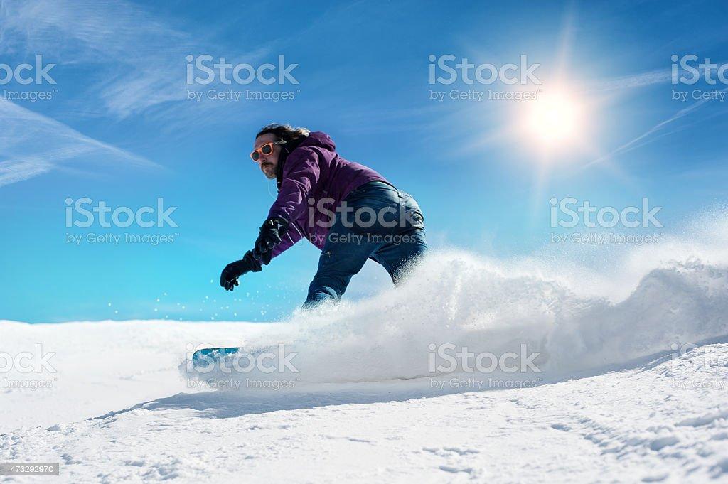 snowboarder freerider stock photo
