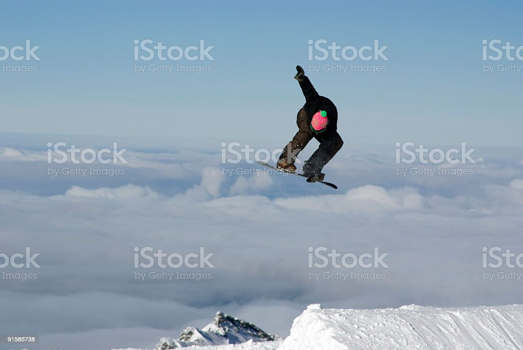 Snowboarder Getting Big Air royalty-free stock photo
