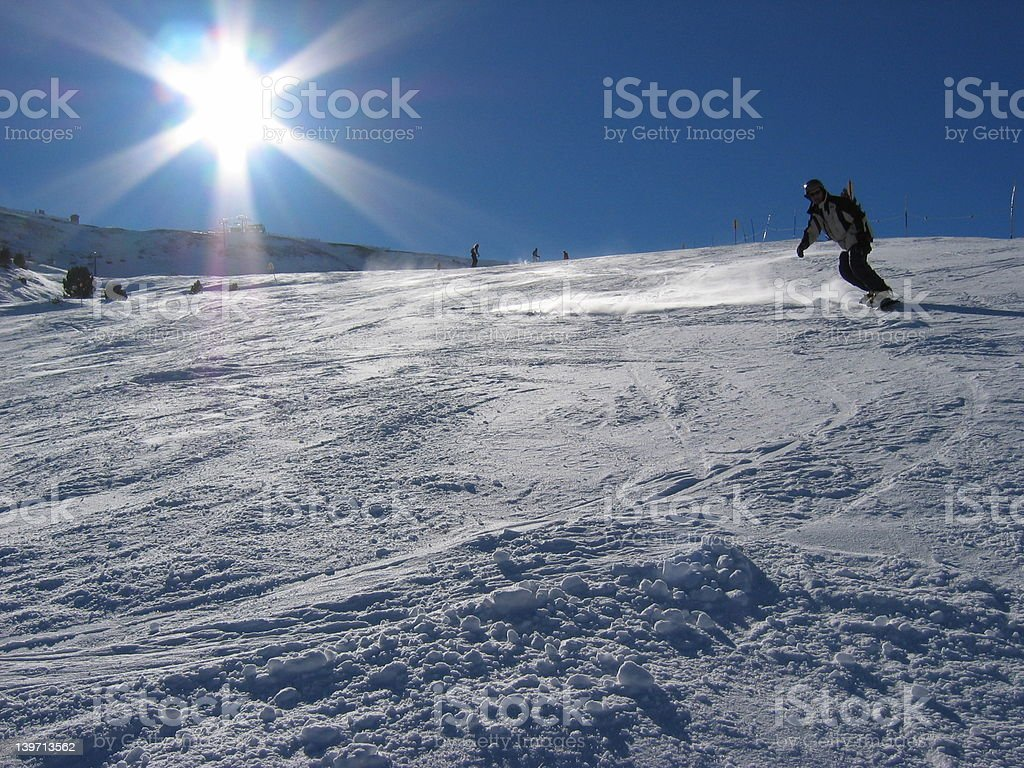 Snowboarder in Action royalty-free stock photo