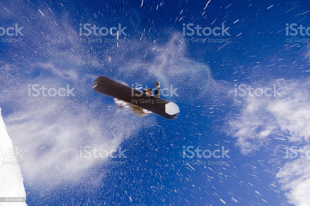 Snowboarder in Flight stock photo