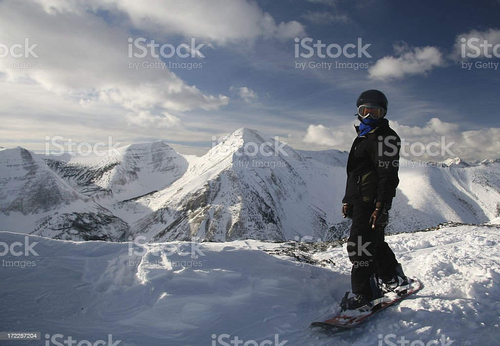 Snowboarder on the Summit royalty-free stock photo
