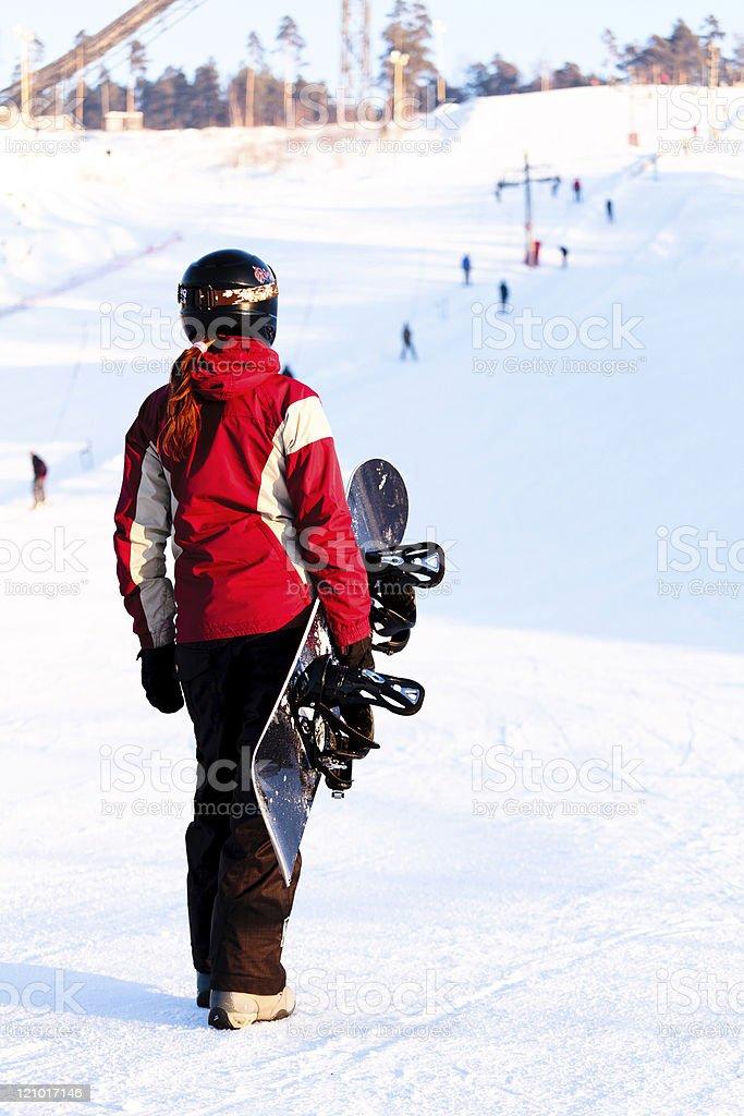 Snowboarder royalty-free stock photo