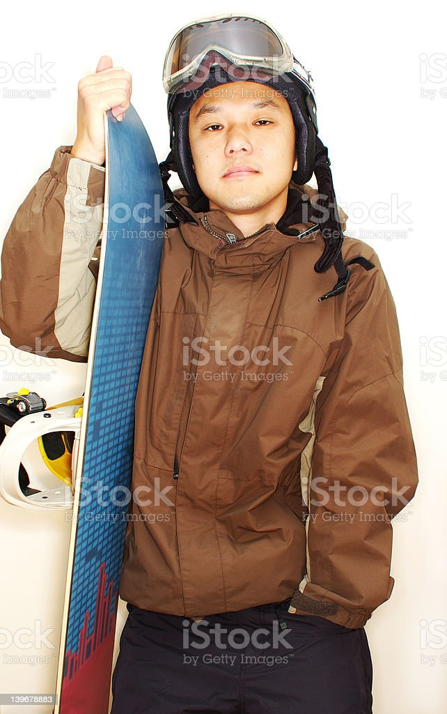 snowboarder  (high contrast) royalty-free stock photo