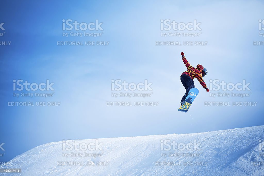 Snowboarder stock photo