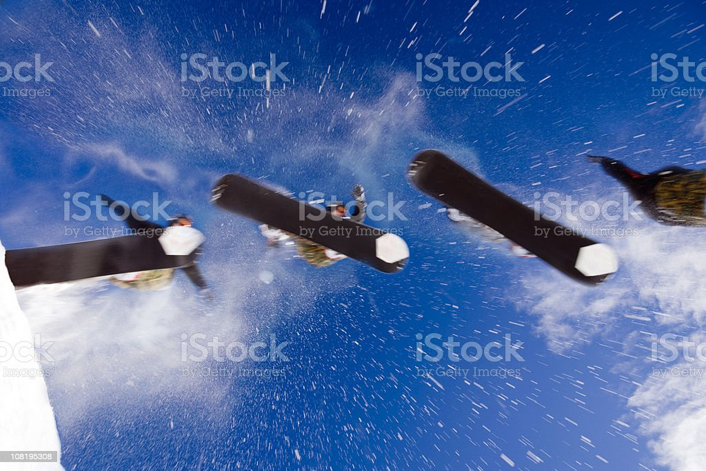 Snowboarder Sequence stock photo