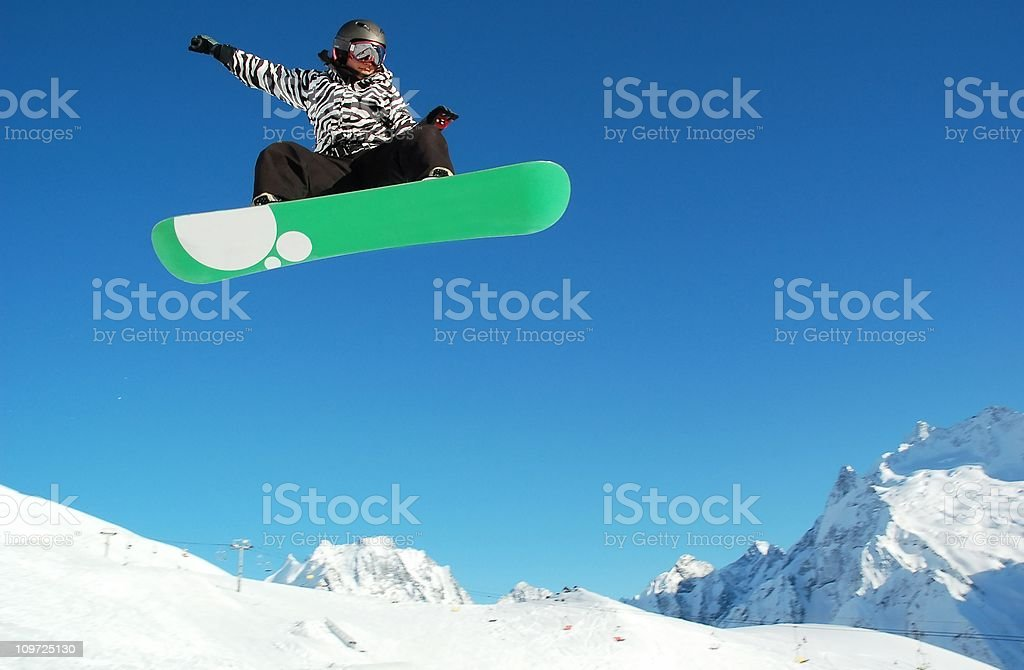 snowboarder woman stock photo