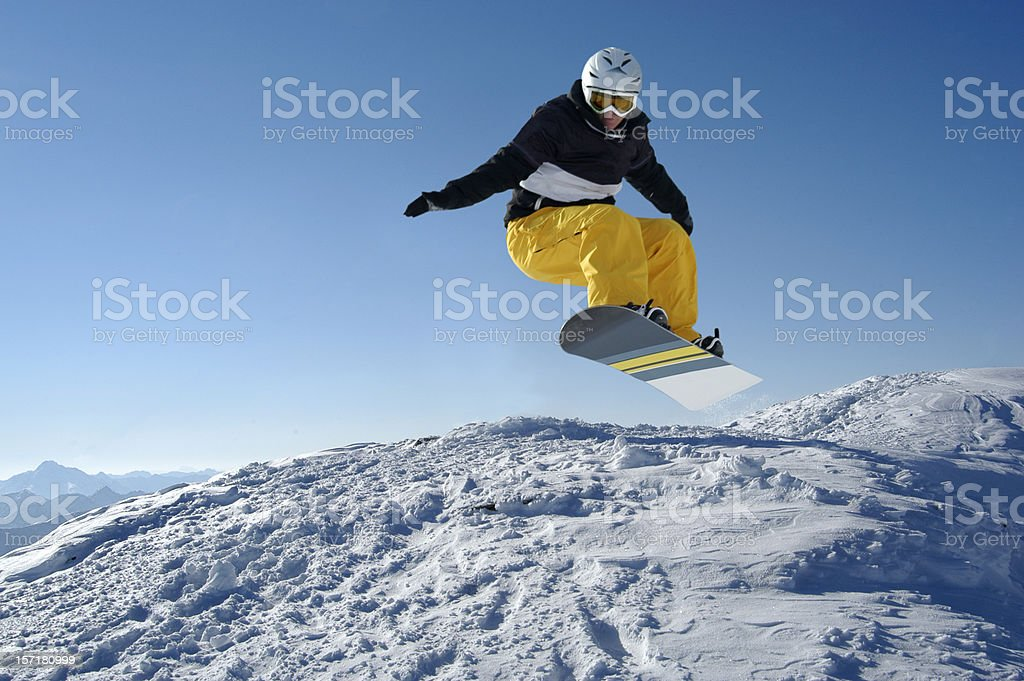 Snowboarder's Landscape royalty-free stock photo