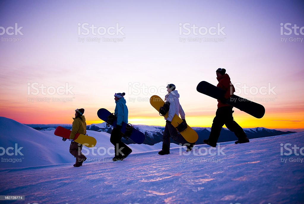 Snowboarders royalty-free stock photo