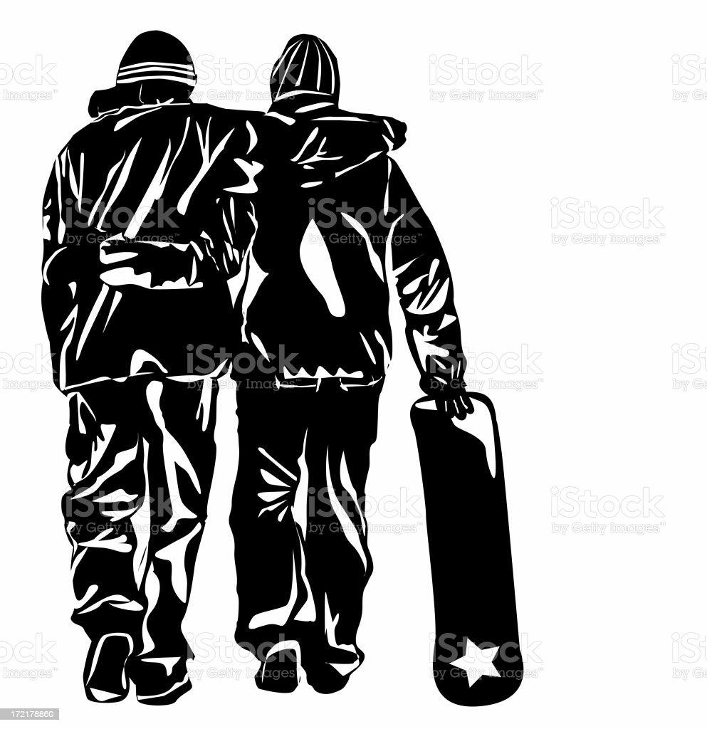 Snowboarders stock photo