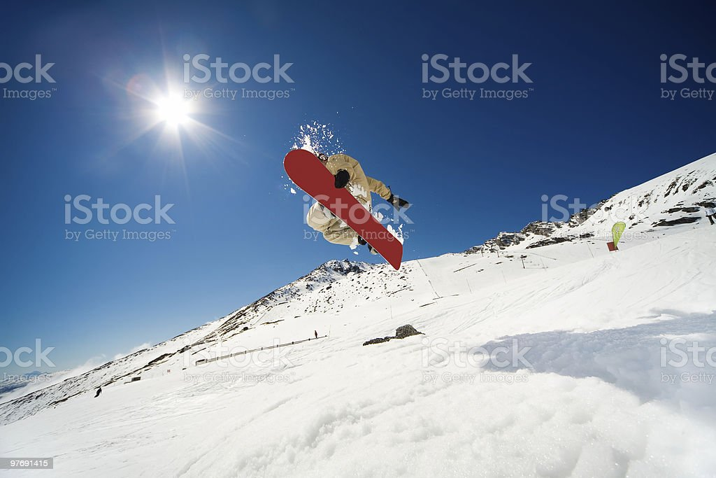Snowboarding action royalty-free stock photo