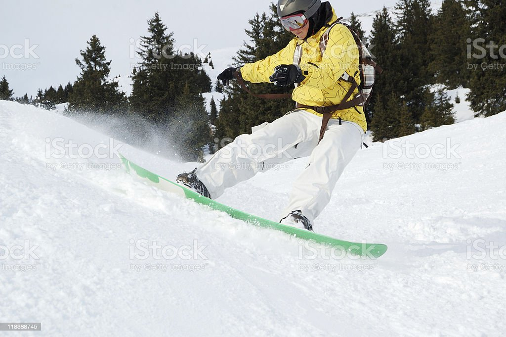 perfect fresh snow at ski resort in Austria