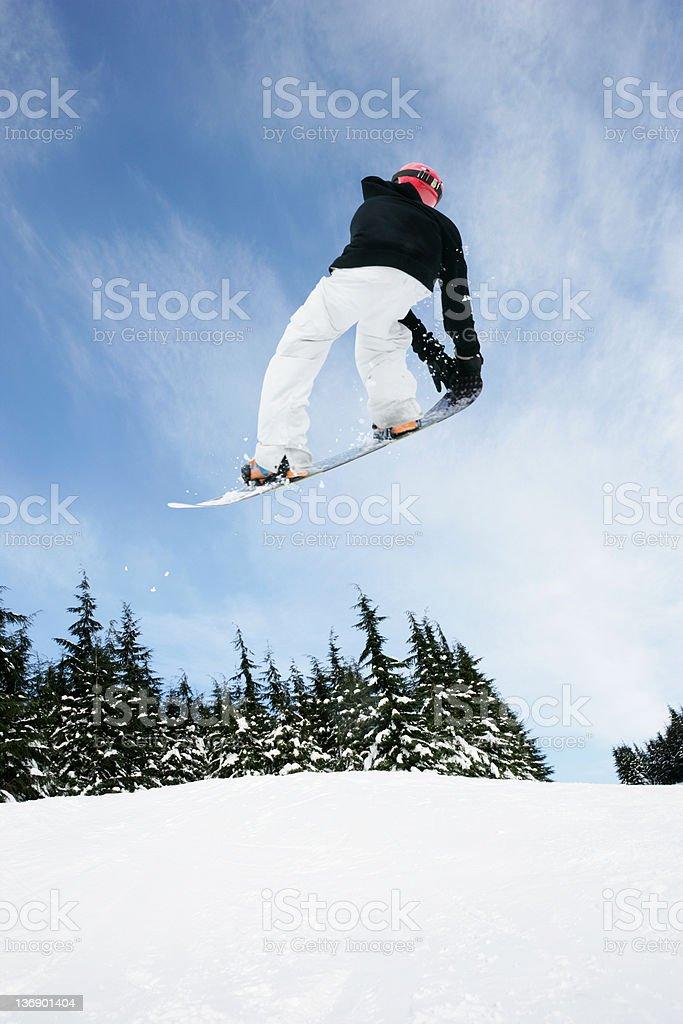 XL snowboarding big air stock photo