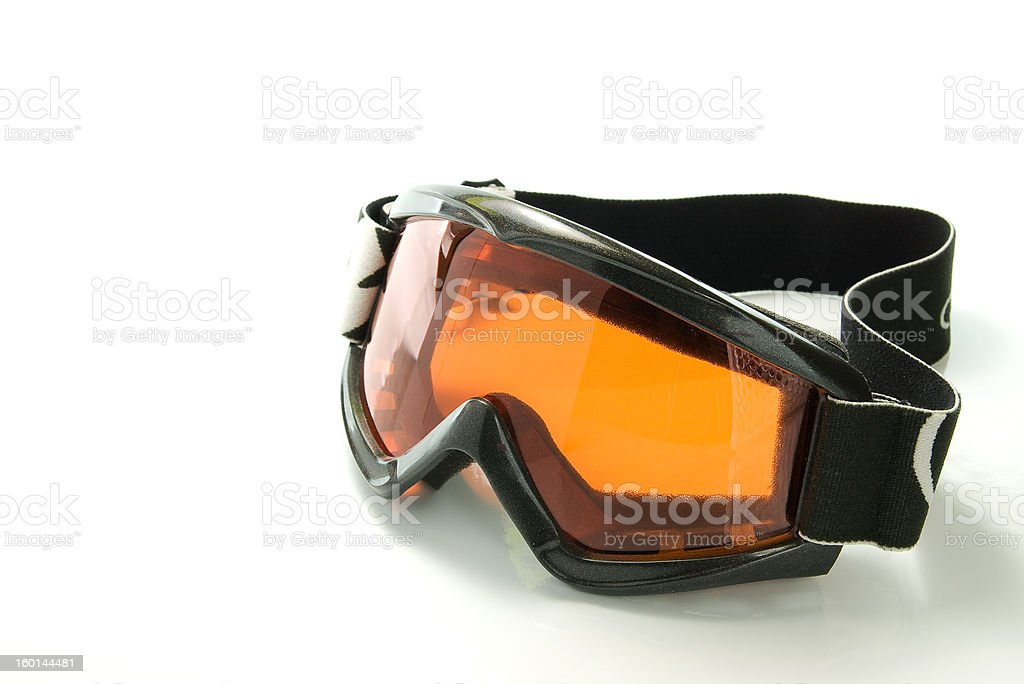 Snowboarding glasses stock photo