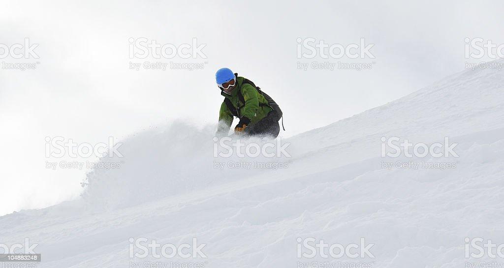 Snowboarding Heaven stock photo