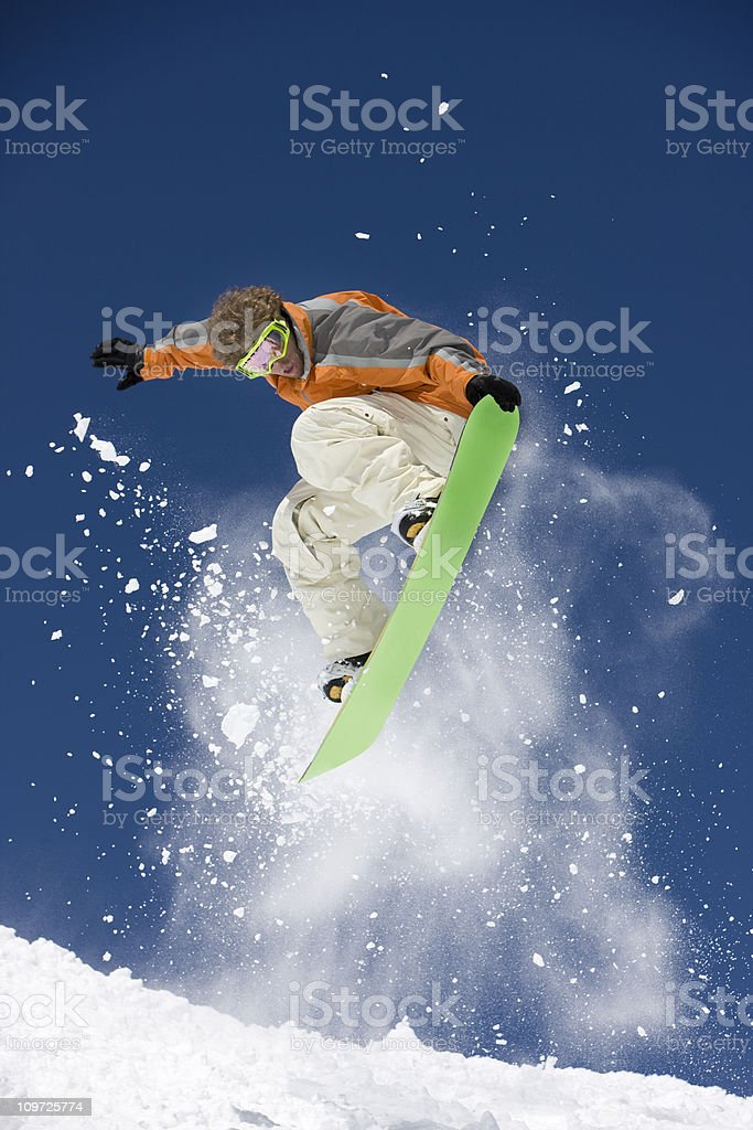 Snowboarding In Colorado royalty-free stock photo