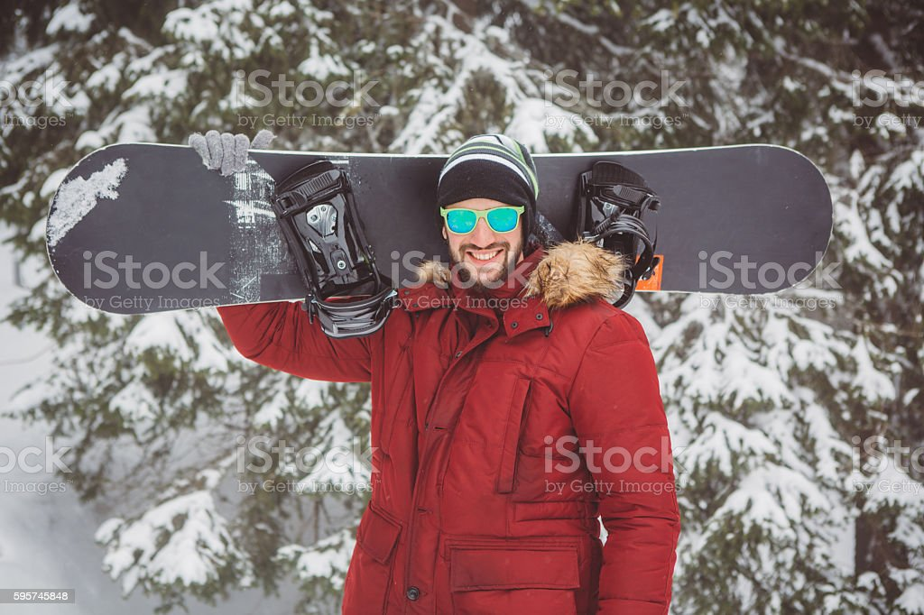 Snowboarding is awesome stock photo