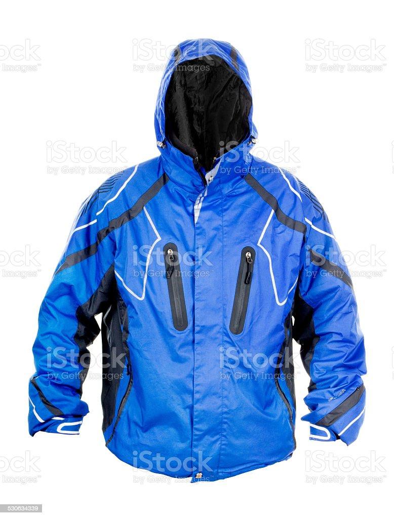 Snowboarding jacket isolated on a white background stock photo