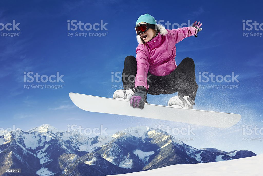 Snowboarding stock photo