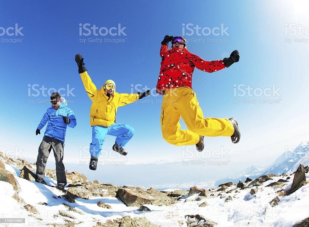 Snowboarding stock photo
