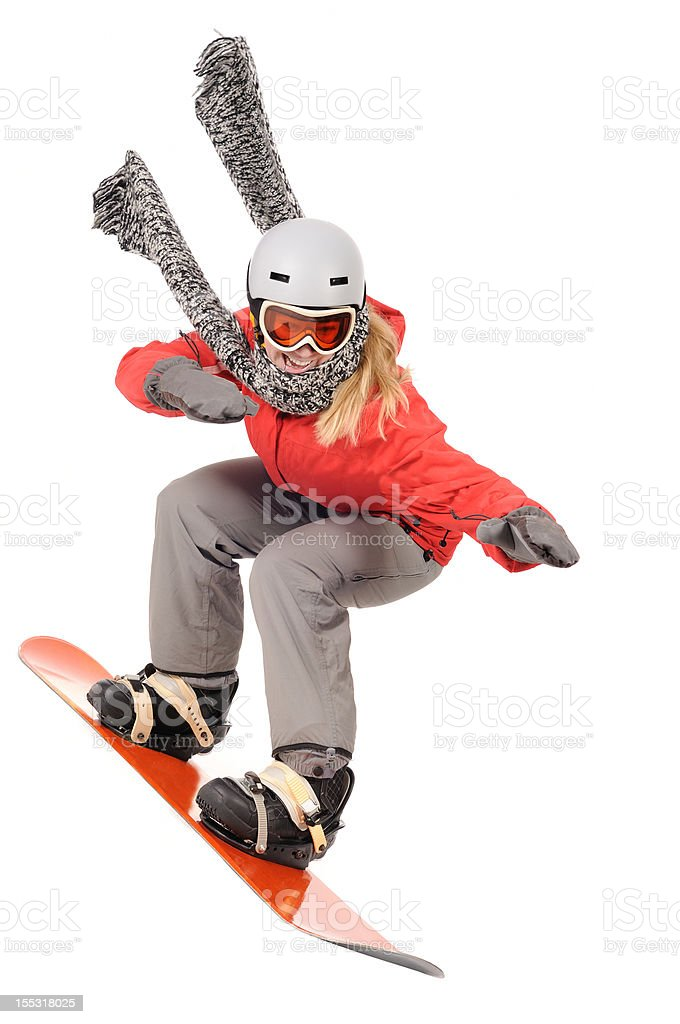 snowboarding racing fun royalty-free stock photo