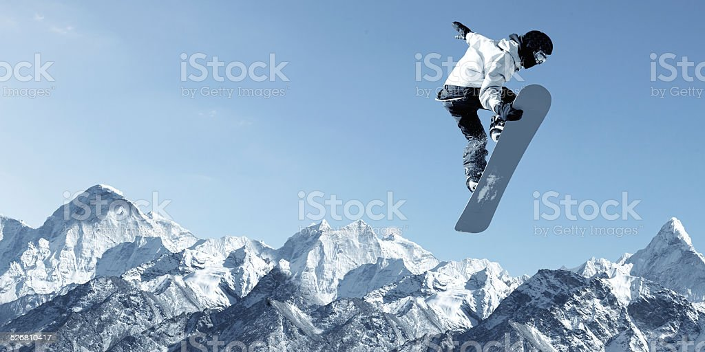 Snowboarding sport stock photo