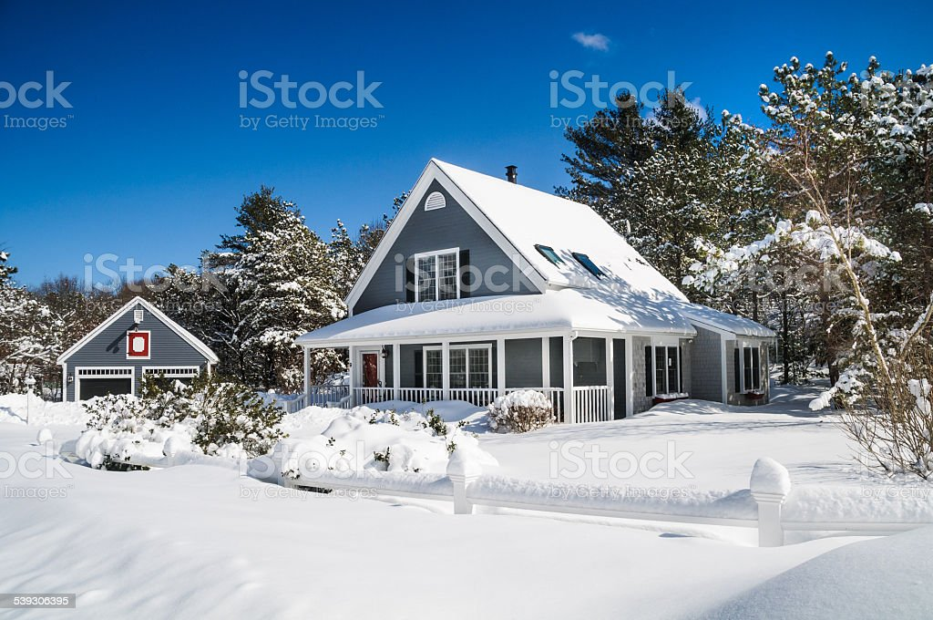 Snowbound stock photo