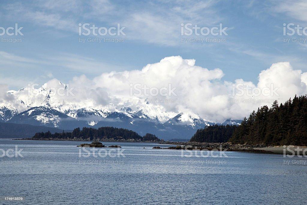 Snowcapped Alaska Mountains stock photo