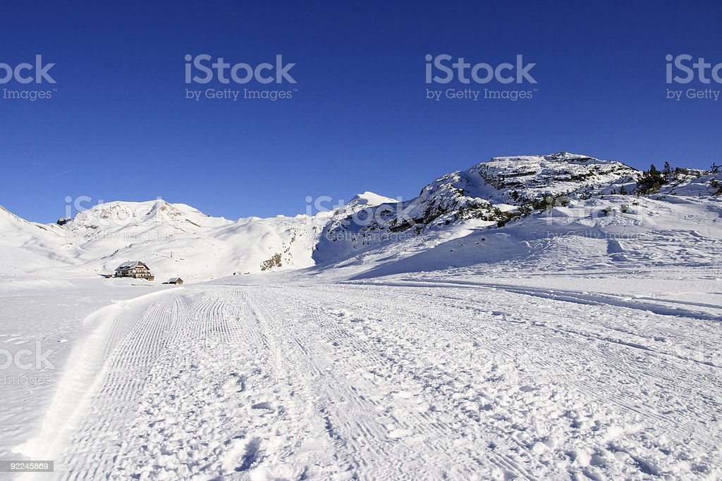 Snowcapped Alps royalty-free stock photo