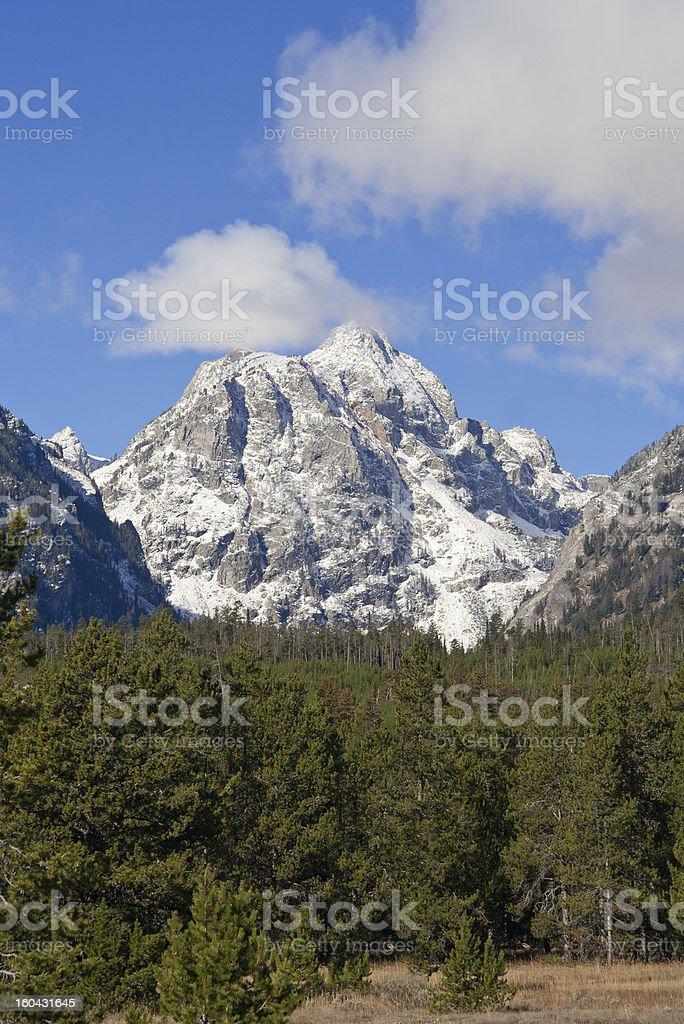Snowcapped mountain at Grand Teton National Park, Wyoming, USA royalty-free stock photo