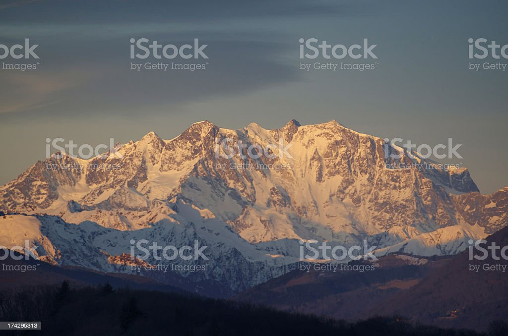 Snow-capped mountain stock photo