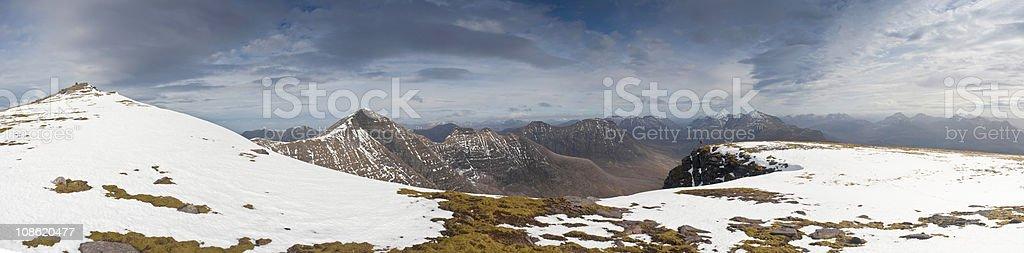 XXXL Snowcapped Mountain VIsta royalty-free stock photo