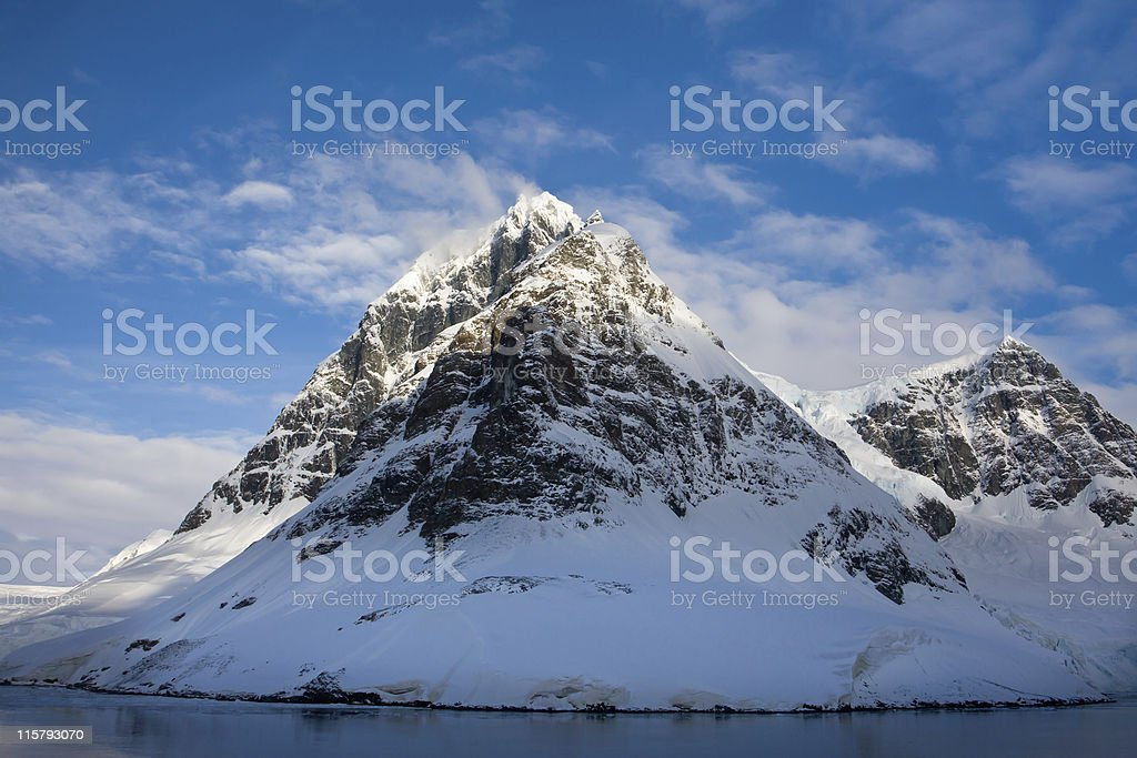 Snow-capped mountains in Antarctica royalty-free stock photo