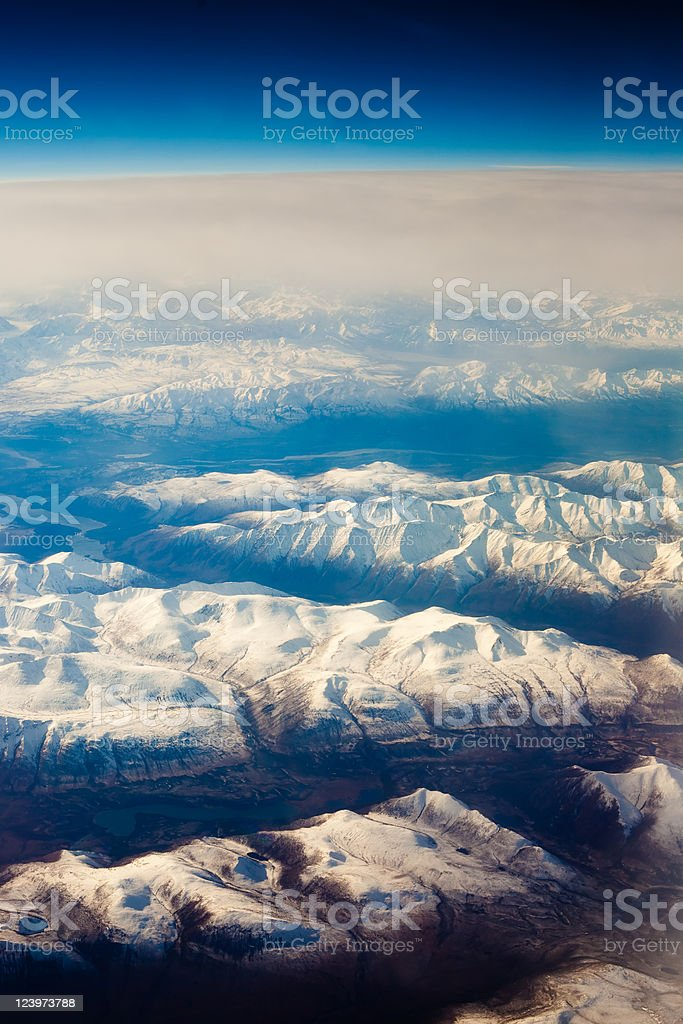 Snowcapped mountains royalty-free stock photo