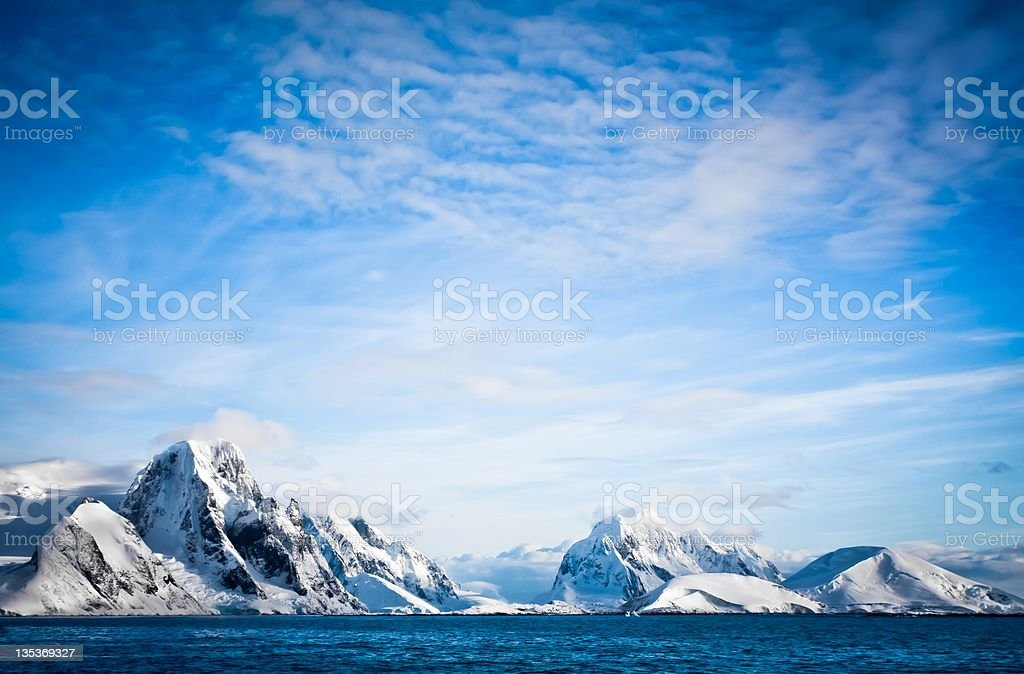 Snow-capped mountains royalty-free stock photo