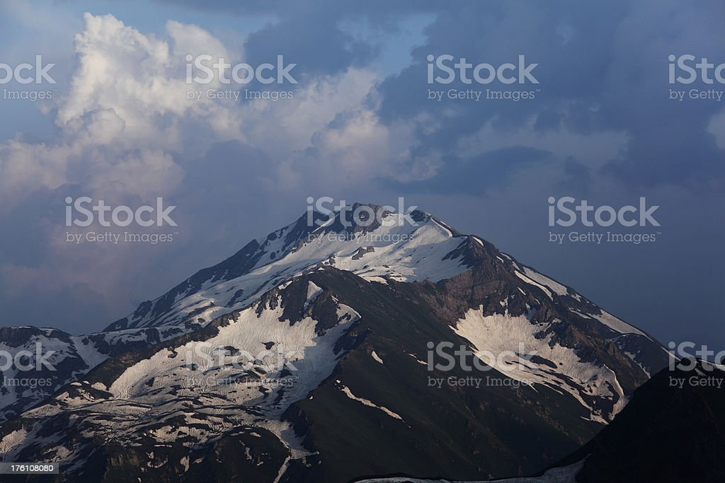Snowcapped Peak in Norther Areas Pakistan royalty-free stock photo
