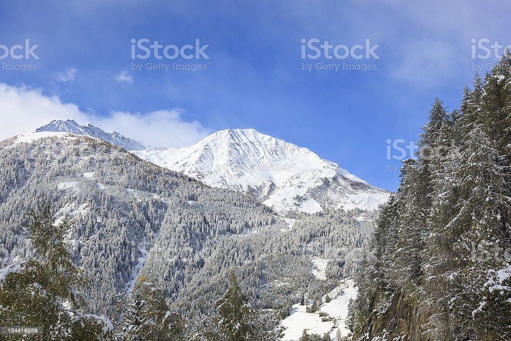 Snowcapped peak stock photo