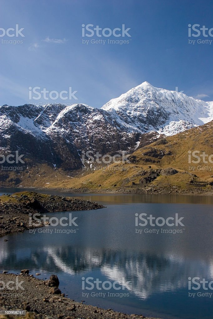 Snow-capped Snowdon royalty-free stock photo