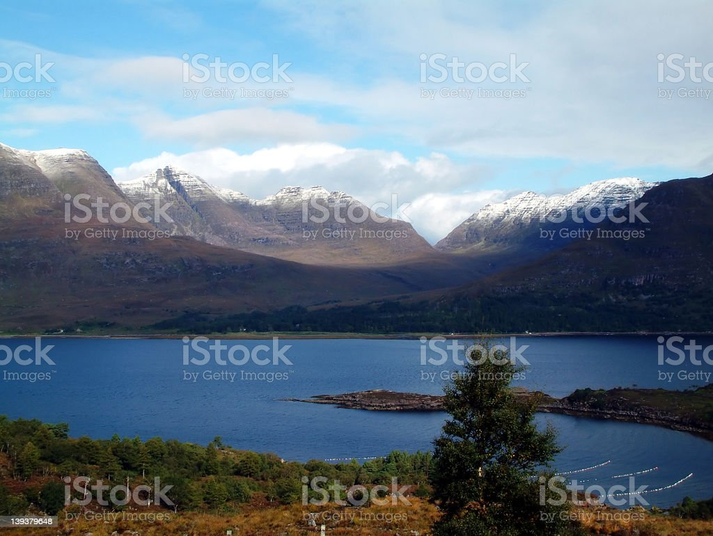 Snowcapped Torridon Mountains royalty-free stock photo