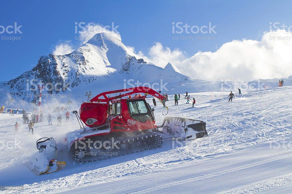 snowcat in Alps royalty-free stock photo