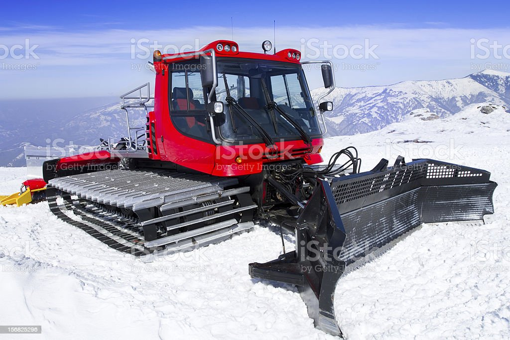 Snowcat, machine for snow removal royalty-free stock photo
