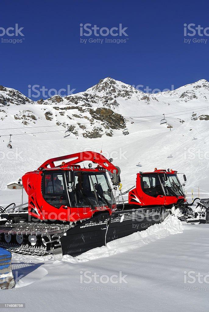 Snowcat royalty-free stock photo