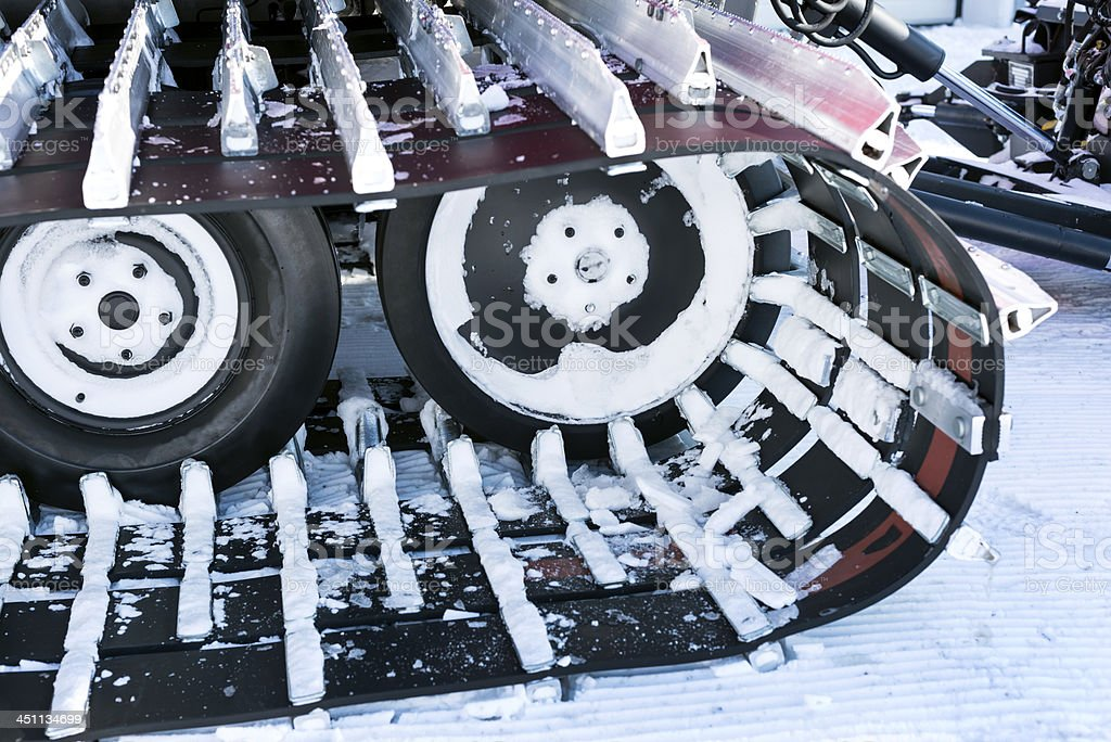 Snowcat's Tracks, Machine for Snow Removal royalty-free stock photo