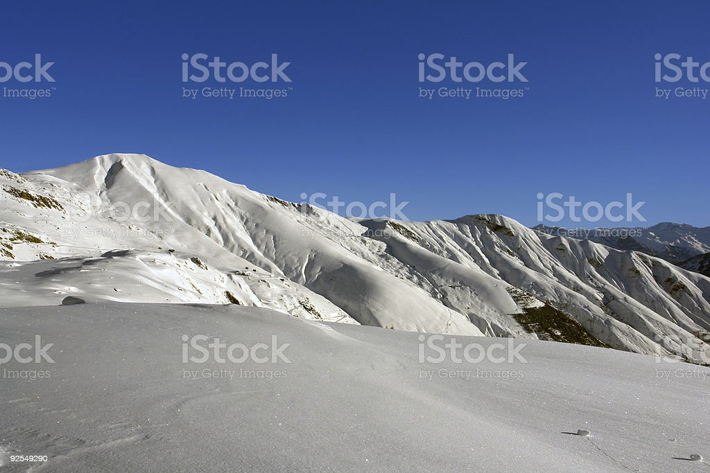 Snowcovered Alps 01 royalty-free stock photo